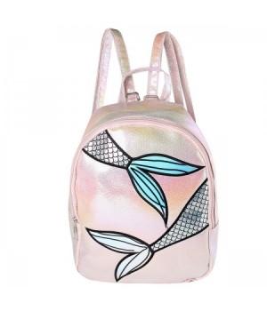 Рюкзак ПВХ 1отд 24*30*10 Mermaid 188716 КОКОС розовый