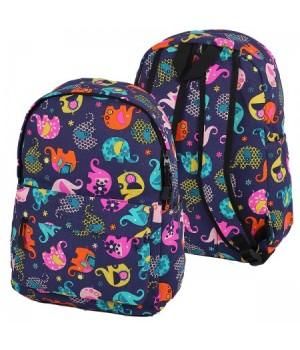 Рюкзак ткань 1отд 30*40*12 Цветной слон 180900/1 КОКОС