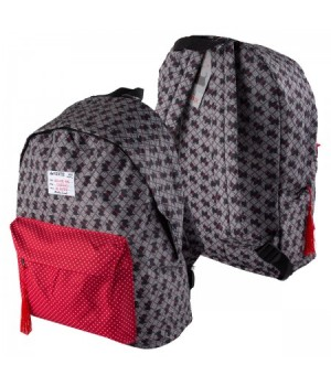 Рюкзак ткань 1отд 30*40*14 deVENTE Scotch 7033784 сер/красн