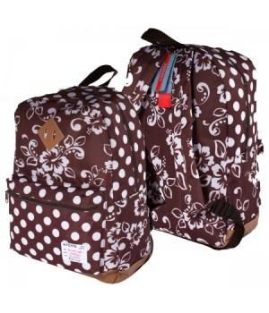 Рюкзак ткань 1отд 30*40*14 deVENTE отд к/з 7033789 т коричневый