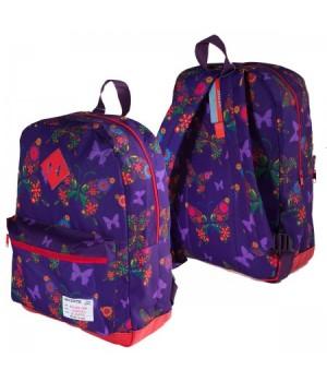 Рюкзак ткань 1отд 30*40*14 deVENTE отд к/з 7033790 фиолетовый