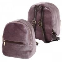 * Рюкзак ткань 1отд 21*26*13 Велюр отд к/з 181678/12PU2 КОКОС розовый