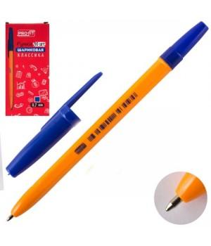 Ручка шар 0,7 желт корп Классика РШ-3160 син к/к