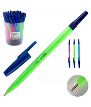Ручка шар 1,0 цветн корп Стамм 049 РШ01 NEON син пл/уп ассорти