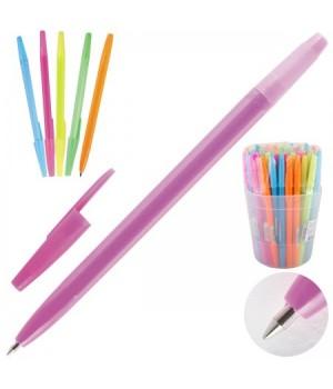 Ручка шар 0,7 цветн корп оптима РО10 син пл/уп ассорти