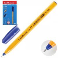 Ручка шар 0,7 игольч трехгран желт корп Ultra Glide Technology U-11 Yellow однораз EK 37055 син к/к