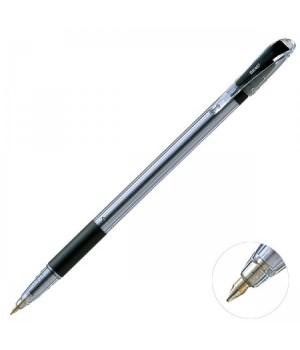 Ручка шар 0,7 прозр корп резин манжет Pentel BK407-AN черн к/к
