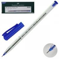 Ручка шар 0,7 игольч трехгран прозр корп Faber-Castell однораз FC 521051 син