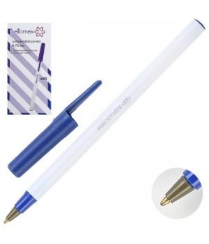 Ручка шар 0,7 бел корп Attomex 5073308 син к/к