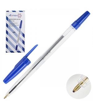Ручка шар 0,7 прозр корп Attomex 5073320 син к/к