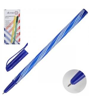 Ручка шар 0,5 цветн корп Attomex однораз 5073410 син к/к ассорти