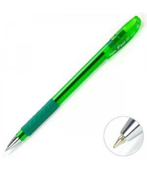 Ручка шар масл 0,7 тонир корп резин манжет Feel it! BX487-D зел к/к