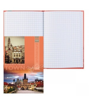 Книжка записная А6 (105*150) 64л тв обл 7Бц Старинная архитектура глянц лам 64-3379