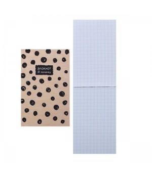 Блокнот А7 (65*100) 48л склейка обл мягк карт В точку глянц лам 48Б7В1к ассорти 5 видов