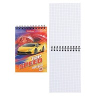 Блокнот А6 (100*145) 60л дв спир обл мягк карт Top Speed 46697