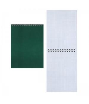 Блокнот А5 (145*200) 60л дв спир обл мягк карт Для конференций Б5гр60 1591 зелен