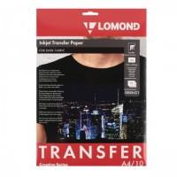 Бумага термотрансферная струйн. для темн.тканей A4/10 Lomond 0808421