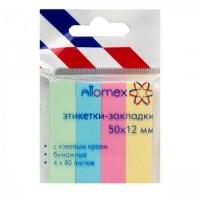 Закладки бум 12*50 4цв*80л Attomex 2011702 пастель